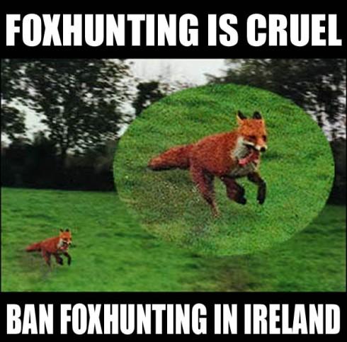 FOXHUNTING IS CRUEL