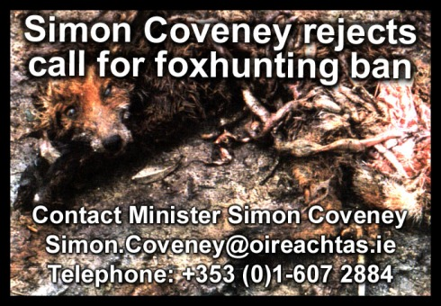 coveney rejects call for foxhunting ban