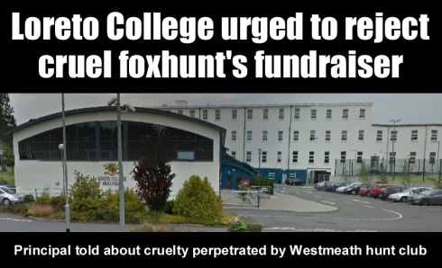 loreto college urged to reject foxhunt fundraiser