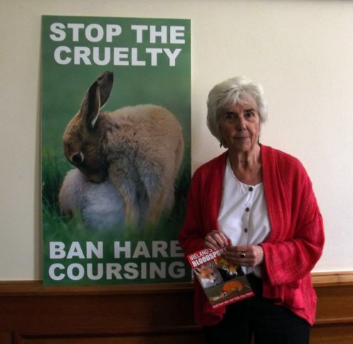 'Stop the cruelty - Ban hare coursing' - Maureen O'Sullivan TD (Independent, Dublin Central)