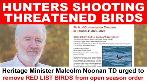 red list birds being shot by hunters copy